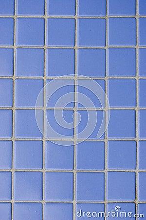 Blå tegelplatta