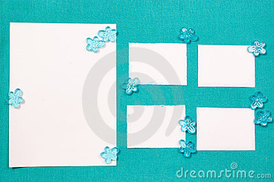 Blåa gardinpappersark
