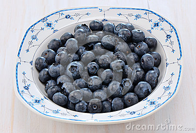 Blåbär i en nätt maträtt