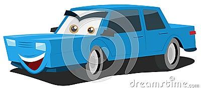 Blått biltecken