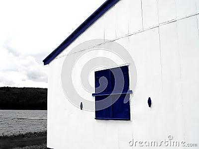 Blått fönster