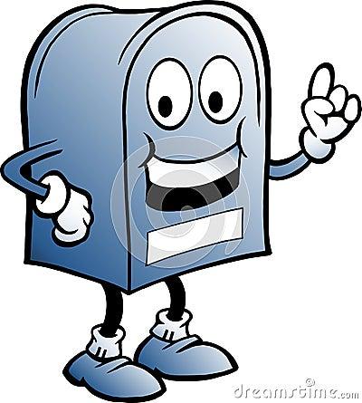 Blå brevlåda