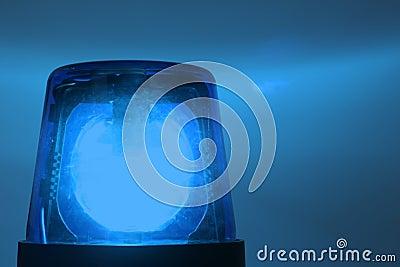 Blå exponerande lampa