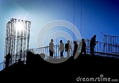 Blå konstruktionslokal