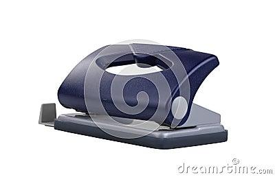 Blå puncher för kontorspappershål