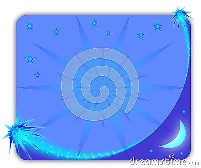 Blå starry rambild