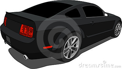 Black 2008 Mustang Muscle Car