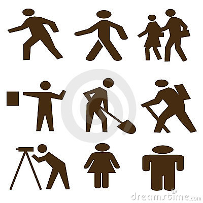 Free Black Abstract People Shapes Stock Photography - 6173852