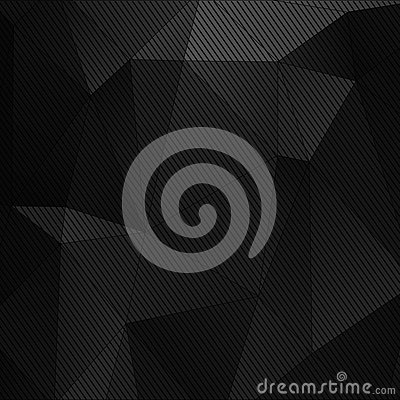 Black abstract technology background Vector Illustration