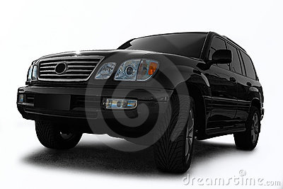 Black all terrain automobile