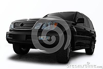 Black all terrain automobile