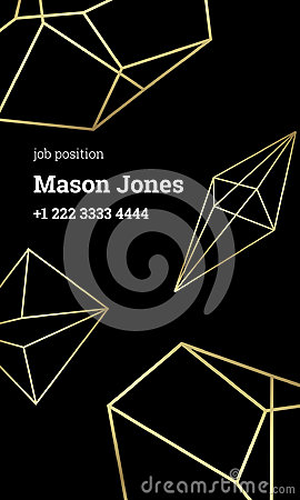 Free Black And Gold Business Card Template Strict Style Stock Photography - 95903512