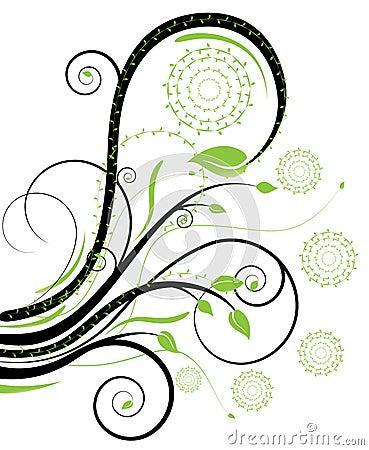 Free Black And Green Swirls Royalty Free Stock Image - 11554816