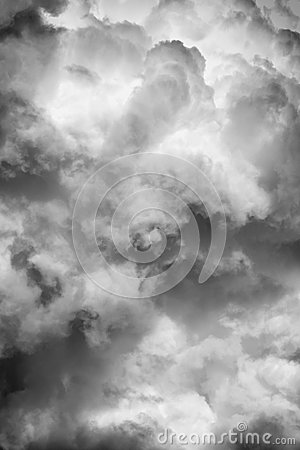 Free Black And White Clouds Texture On The Dark Sky Background Abstract. Royalty Free Stock Photography - 96341897