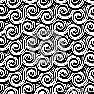 Free Black And White Curly Pattern Royalty Free Stock Photography - 41581877