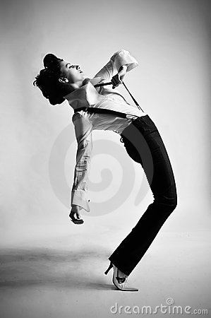 Free Black And White Dancer Royalty Free Stock Images - 7690229