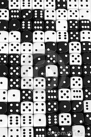 Free Black And White Dice Background Stock Photos - 7977273