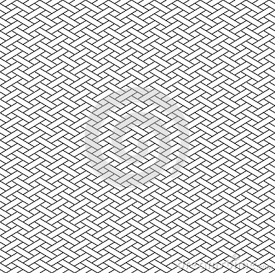 Free Black And White Geometric Seamless Pattern With Weave Style. Royalty Free Stock Photos - 56253288