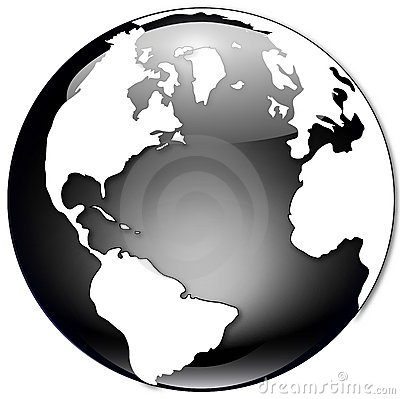 Free Black And White Globe Illustration Stock Image - 1252891