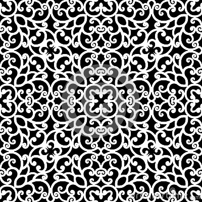 Free Black And White Lace Pattern Stock Image - 49087281