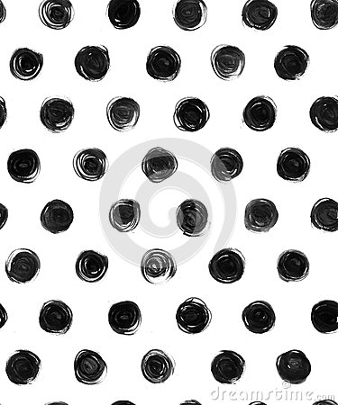 Free Black And White  Polka Dot Seamless Pattern Paint Stock Images - 59774344