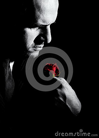 Free Black And White Portrait Of Man, Godfather-like Character. Stock Image - 66256581