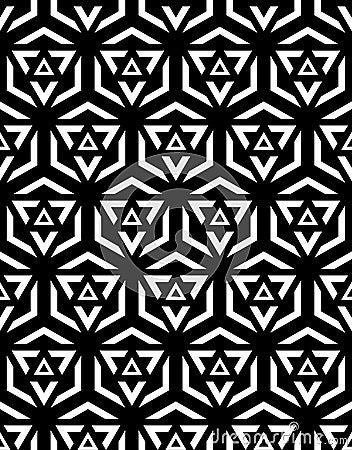 Free Black And White Seamless Pattern Sacred Geometry Royalty Free Stock Photo - 57983925