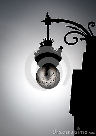 Free Black And White Street Light In Old Style. Stock Photo - 26442660