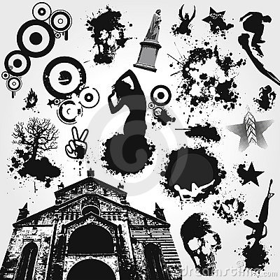 Free Black And White Vector Set Stock Photo - 4305090