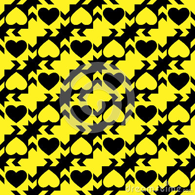 Free Black And Yellow Hearts Stock Images - 29220664