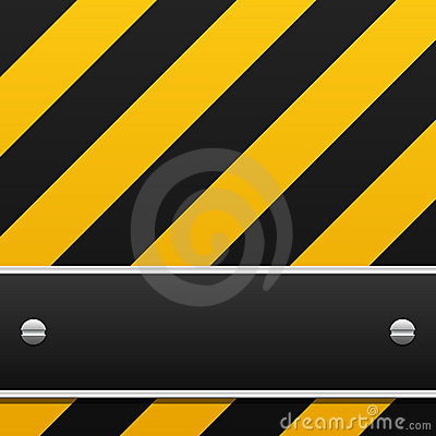Free Black And Yellow Warning Background Stock Photo - 5629160