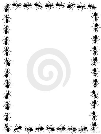 black ants border frame royalty free stock images