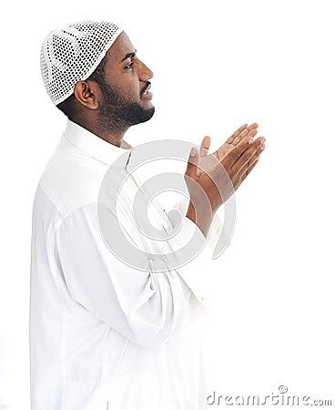 Free Black Arabic Man Praying Royalty Free Stock Photo - 24916965