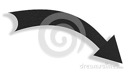 Black arrow Stock Photo