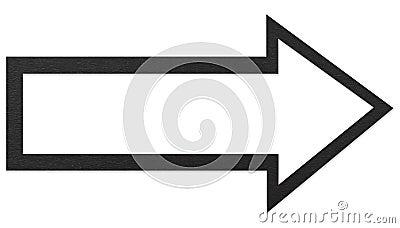 Black arrow Stock Photo