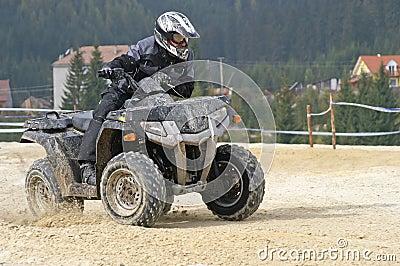 Black ATV turn