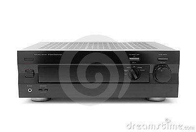 Black audio amplifier