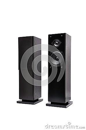 Free Black Audio Speakers Stock Image - 22235911