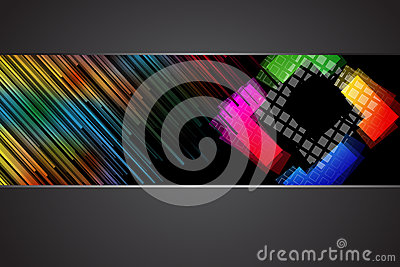 Black background with rainbow colors