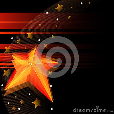 Black background with star