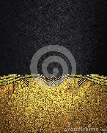 Free Black Background With Gold Pattern. Template For Design. Copy Space For Ad Brochure Or Announcement Invitation, Abstract Backgroun Royalty Free Stock Images - 69343429