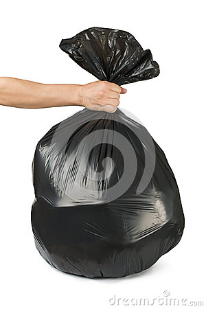 Black bag of rubbish