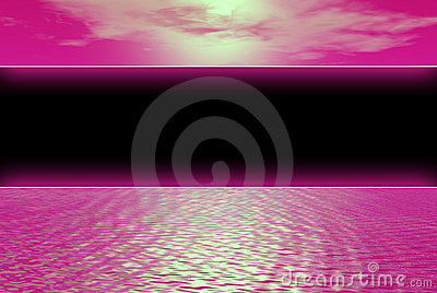 Black banner pink