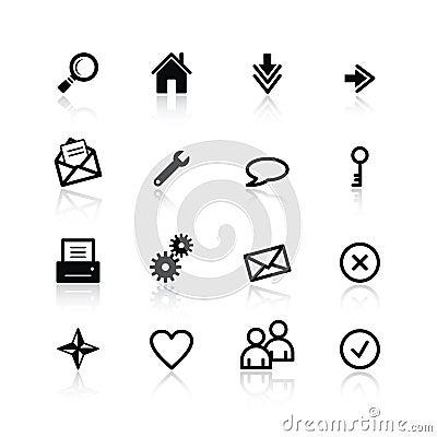 Free Black Basic Web Icons Royalty Free Stock Image - 2764846