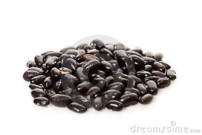Black beans isolated