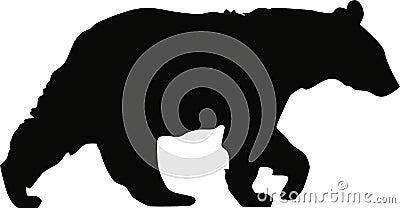 Black bear profile standing