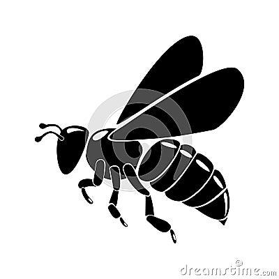 Free Black Bee Stock Image - 15526711