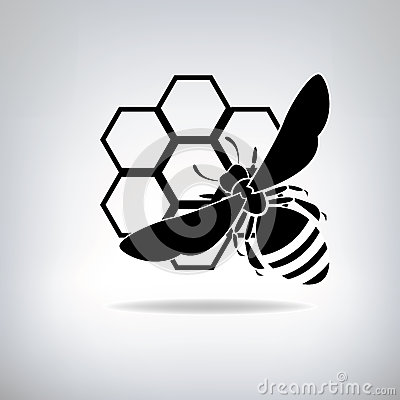 Free Black Bees And Honey Royalty Free Stock Images - 36070059