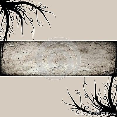 Black beige twirls background