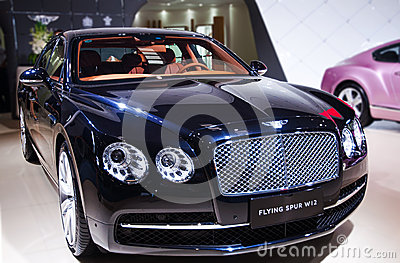 A black bentley car Editorial Stock Photo